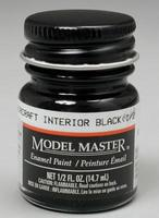 Testors 1/2oz. Bottle Model Master II Enamel Aircraft Interior Black (6/Bx) (D)