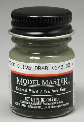 Testors Model Master Faded Olive Drab 1/2 oz -- Hobby and Model Enamel Paint -- #2051
