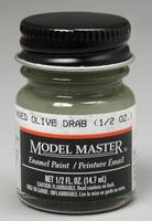 Testors Model Master Faded Olive Drab 1/2 oz Hobby and Model Enamel Paint #2051