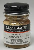 Testors Model Master Sandgelb RLM 79 1/2 oz Hobby and Model Enamel Paint #2088