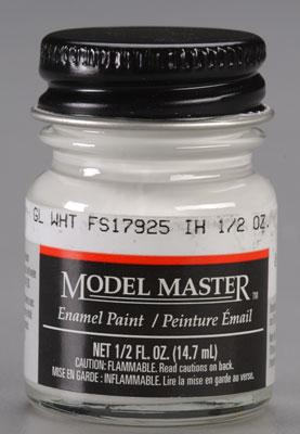Testors Model Master Gloss White FS17925 1/2 oz -- Hobby and Model Enamel Paint -- #2144