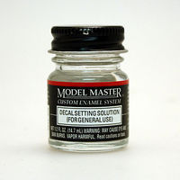 Testors Model Master Decal Setting Solution 1/2 oz Hobby and Model Enamel Paint #2146