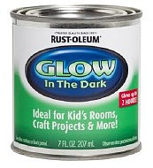 Testors 1/2 Pint Can Glow-In-The-Dark Luminous Paint Hobby and Model Paint Supply #214945