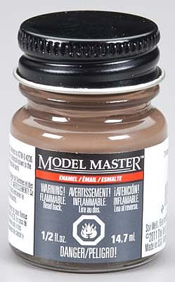 Testors (bulk of 6) Model Master Tricolor Brown Nato Semi-Gloss 1/2 oz -- Hobby and Model Enamel Paint -- #2174