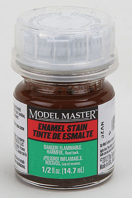 Testors 1/2oz. Bottle Model Master II Enamel Semi Gloss Brown Detail Stain (6/Bx) (D)
