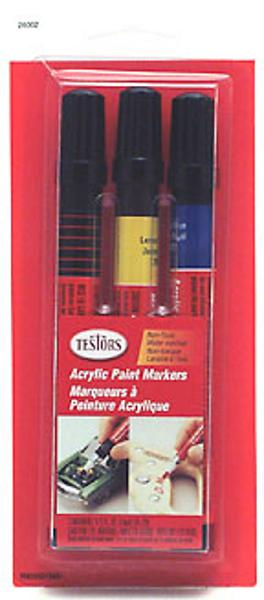 Bulk of 6 acrylic paint marker set blue yelllow black for Acrylic paint in bulk