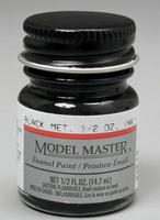 Testors Model Master Black Metallic 1/2 oz Hobby and Model Enamel Paint #2713