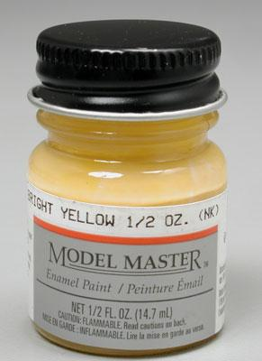 Testors Model Master Bright Yellow 1/2 oz Hobby and Model Enamel Paint #2717