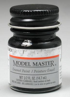 Testors Automotive Color Model Master Classic Black Hobby and Model Enamel Paint #2721
