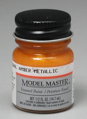Testors Model Master Turn Signal Amber Metallic 1/2 oz -- Hobby and Model Enamel Paint -- #2723