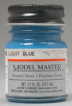 Testors Model Master Ford Engine Light Blue 1/2 oz Hobby and Model Enamel Paint #2726