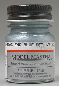 Testors MM Car 1/2oz Pontiac Eng Blue Met