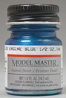 Testors Model Master Olds Engine Blue 1/2 oz Hobby and Model Enamel Paint #2729
