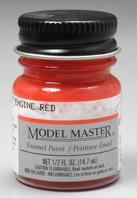 Testors Model Master Chevy Engine Red 1/2 oz Hobby and Model Enamel Paint #2731
