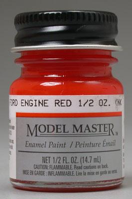 Testors Model Master Ford Engine Red 1/2 oz Hobby and Model Enamel Paint #2733