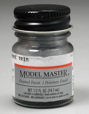 Testors Model Master Silver Chrome Trim 1/2 oz Hobby and Model Enamel Paint #2734