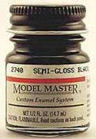 Testors Model Master Semi-Gloss Black 1/2 oz