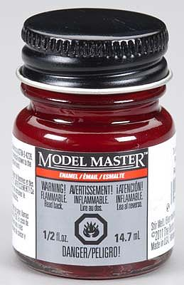 Testors Model Master Turn Signal Red Gloss 1/2 oz -- Hobby and Model Enamel Paint -- #2756