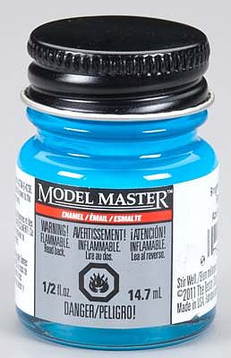 Testors Model Master Bright Light Blue Gloss 1/2 oz -- Hobby and Model Enamel Paint -- #2766