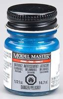 Testors Model Master Metallic Blue Gloss 1/2 oz Hobby and Model Enamel Paint #2768