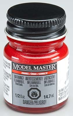 Testors Bright Red Pearl 1/2 oz Hobby and Model Enamel Paint #2775