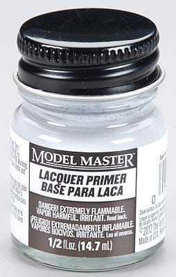 Testors Model Master Super Fine Gray Lacquer Primer 1/2 oz -- Hobby and Model Lacquer Paint -- #2782