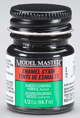 Testors Model Master Black Detail Stain 1/2 oz -- Hobby and Model Enamel Paint -- #2790