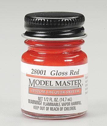 Testors Model Master Lacquer Gloss Red 1/2 oz -- Hobby and Model Lacquer Paint -- #28001