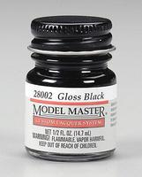 Testors (bulk of 6) Model Master Lacquer Gloss Black 1/2 oz Hobby and Model Lacquer Paint #28002