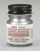 Testors Model Master Lacquer Silver 1/2 oz Hobby and Model Lacquer Paint #28003