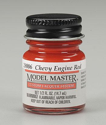 Testors Model Master Chevy Engine Red 1/2 oz -- Hobby and Model Lacquer Paint -- #28006