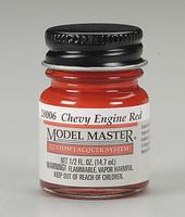 Testors (bulk of 6) Model Master Chevy Engine Red 1/2 oz Hobby and Model Lacquer Paint #28006