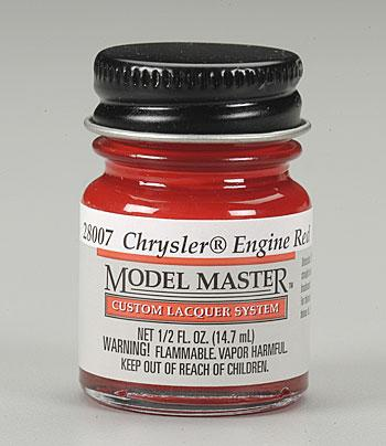 Testors Model Master Chrysler Engine Red 1/2 oz -- Hobby and Model Lacquer Paint -- #28007