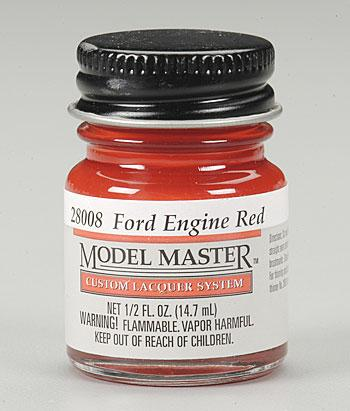 Testors Model Master Ford Engine Red 1/2 oz -- Hobby and Model Lacquer Paint -- #28008