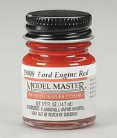 Testors Model Master Ford Engine Red 1/2 oz Hobby and Model Lacquer Paint #28008