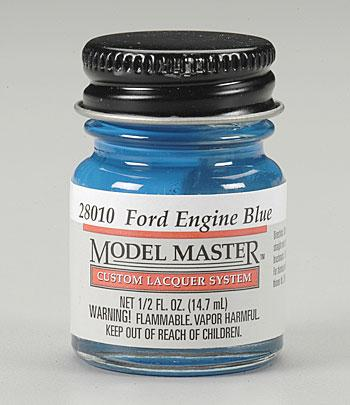 Testors Model Master Ford & GM Engine Blue 1/2 oz -- Hobby and Model Lacquer Paint -- #28010