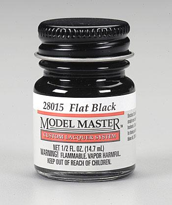 Testors Model Master Flat Black 1/2 oz -- Hobby and Model Lacquer Paint -- #28015