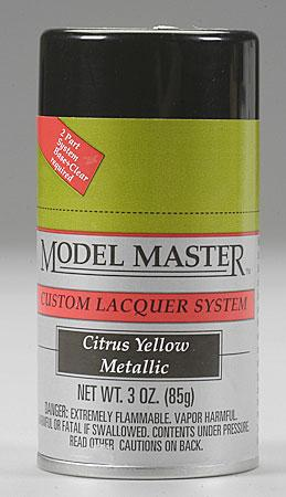 Model Master Spray Citrus Yellow Metallic 3 Oz Hobby And Model Lacquer Paint 28101 By Testors
