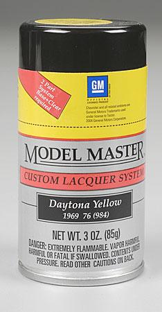 Testors Model Master Spray Daytona Yellow 3 oz Hobby and Model Lacquer Paint #28103