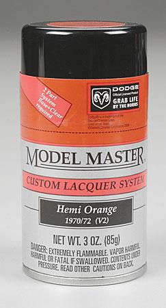 Testors Model Master Spray Hemi Orange 3 oz Hobby and Model Lacquer Paint #28107