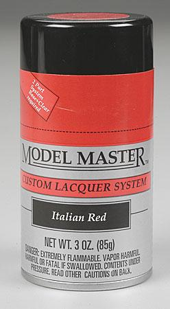 Testors Model Master Spray Italian Red 3 oz -- Hobby and Model Lacquer Paint -- #28109