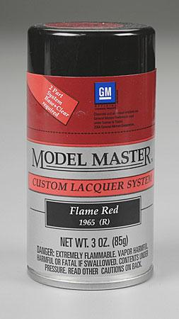 Testors Model Master Spray Flame Red 3 oz -- Hobby and Model Lacquer Paint -- #28110