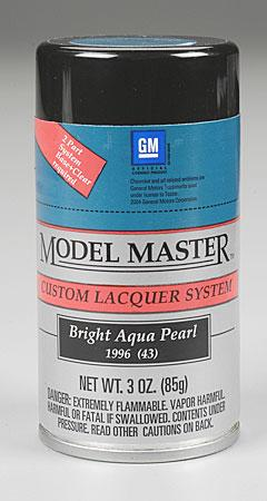 Testors (bulk of 3) Model Master Spray Bright Aqua Pearl 3 oz -- Hobby and Model Lacquer Paint -- #28115