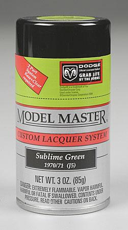 Testors Model Master Spray Sublime Green 3 oz -- Hobby and Model Lacquer Paint -- #28117