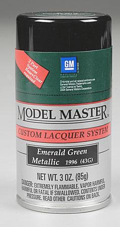 Testors Model Master Spray Emerald Green Metallic 3 oz -- Hobby and Model Lacquer Paint -- #28119