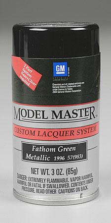 Testors Model Master Spray Fathom Green Metallic 3 oz -- Hobby and Model Lacquer Paint -- #28120