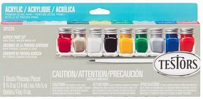 Testors Finishing Acrylic Paint Set (replaces #9196) Hobby and Model Paint #281235