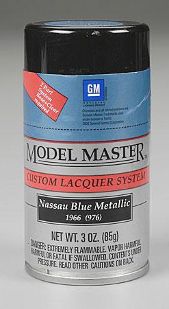 Testors Model Master Spray Nassau Blue Metallic 3 oz -- Hobby and Model Lacquer Paint -- #28128