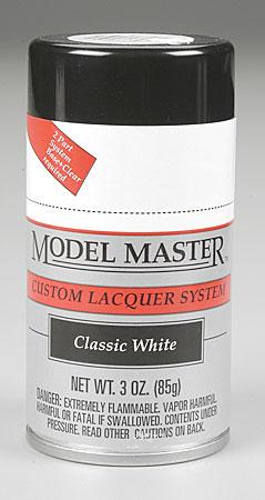 Testors Model Master Spray Classic White 3 oz -- Hobby and Model Lacquer Paint -- #28131