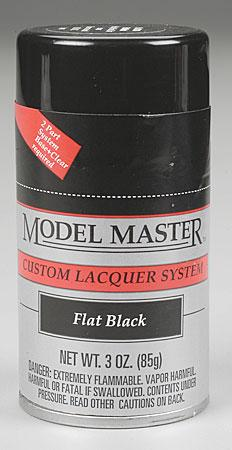 Testors Model Master Spray Flat Black 3 oz -- Hobby and Model Lacquer Paint -- #28134